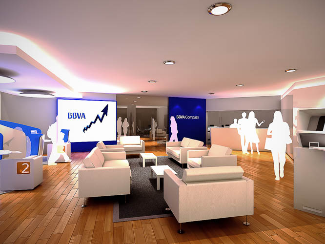 BBVA Compass New Branches Concept  USA 2013
