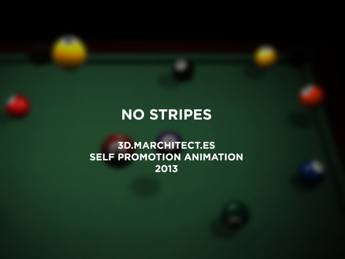 No Stripes  3D.Marchitect.es Self-promo Animation