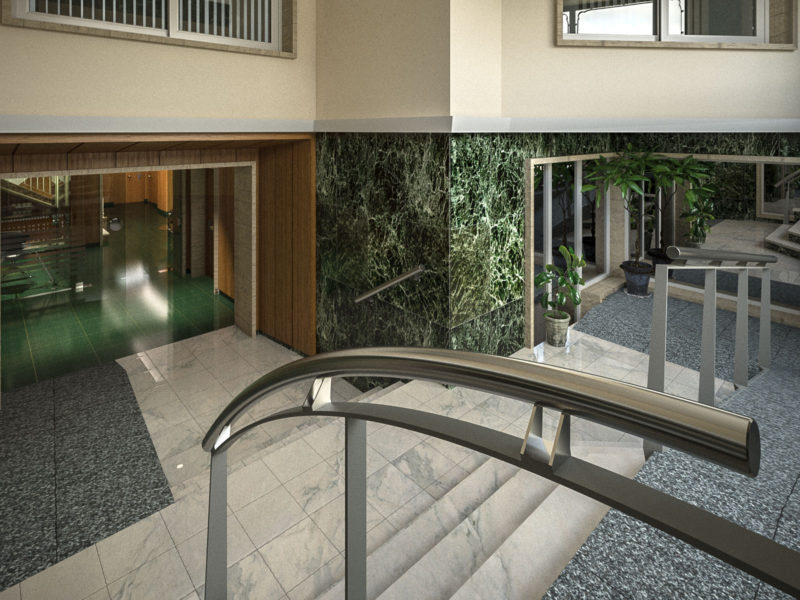 Entrance hall refurbishment in Madrid