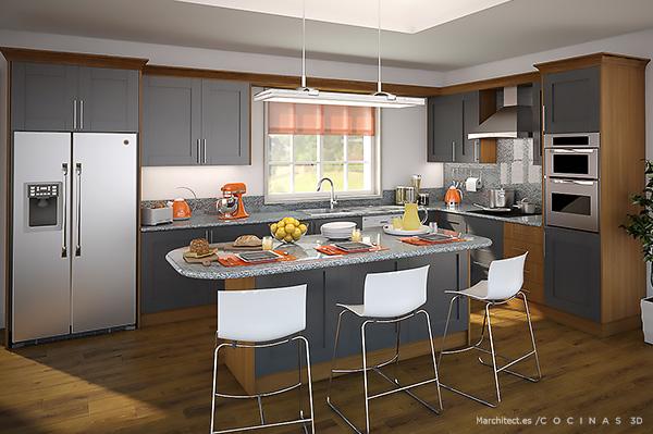 Cocinas 3d diseos de muebles diseos de cocinas diseos for Software cocinas 3d